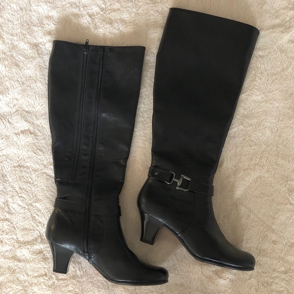 jcpenney Shoes   Black Heeled Boots